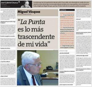 Entrevista a Eddy Vásquez en Perú21