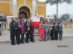 Virgen de las Mercedes del Colegio Victor Manuel Torres Caceres
