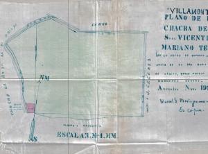 Plano de la finca Villamonte