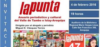 INVITACIÓN A PRESENTACIÓN DE LA REVISTA EN AREQUIPA