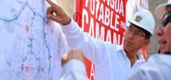 Presidente Vizcarra supervisa sistema de agua potable en Camaná