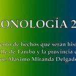 CRONOLOGIA 2020  Recuento de hechos que serán historia en el valle de Tambo y la provincia de Islay